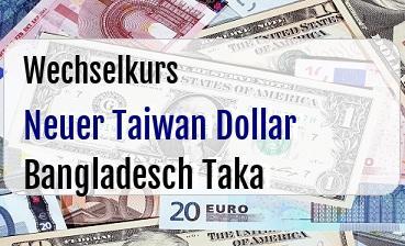 Neuer Taiwan Dollar in Bangladesch Taka