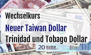 Neuer Taiwan Dollar in Trinidad und Tobago Dollar