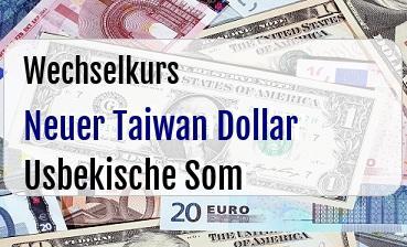 Neuer Taiwan Dollar in Usbekische Som