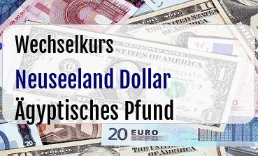 Neuseeland Dollar in Ägyptisches Pfund