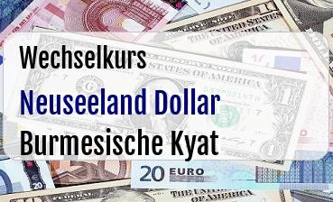 Neuseeland Dollar in Burmesische Kyat