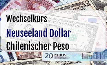 Neuseeland Dollar in Chilenischer Peso