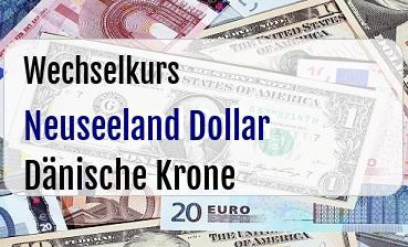 Neuseeland Dollar in Dänische Krone