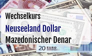 Neuseeland Dollar in Mazedonischer Denar