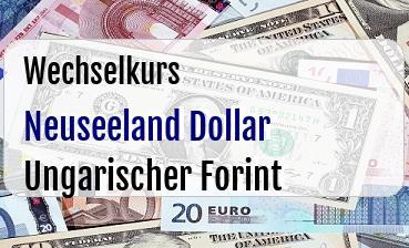 Neuseeland Dollar in Ungarischer Forint
