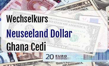 Neuseeland Dollar in Ghana Cedi