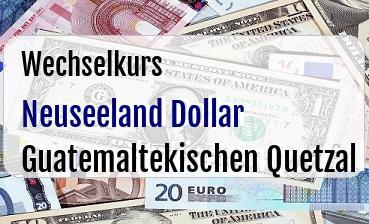 Neuseeland Dollar in Guatemaltekischen Quetzal
