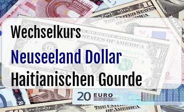 Neuseeland Dollar in Haitianischen Gourde