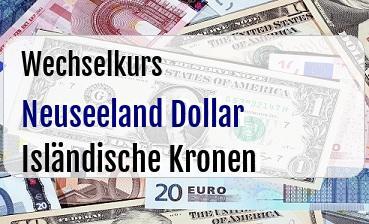 Neuseeland Dollar in Isländische Kronen