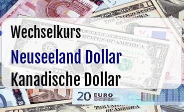 Neuseeland Dollar in Kanadische Dollar