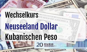 Neuseeland Dollar in Kubanischen Peso