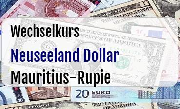 Neuseeland Dollar in Mauritius-Rupie