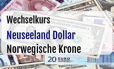 Neuseeland Dollar in Norwegische Krone