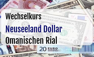 Neuseeland Dollar in Omanischen Rial