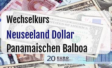 Neuseeland Dollar in Panamaischen Balboa