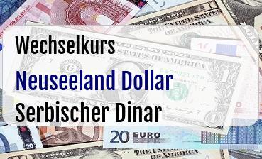 Neuseeland Dollar in Serbischer Dinar