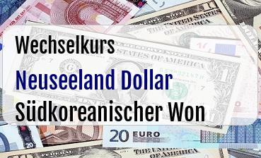 Neuseeland Dollar in Südkoreanischer Won