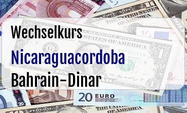 Nicaraguacordoba in Bahrain-Dinar