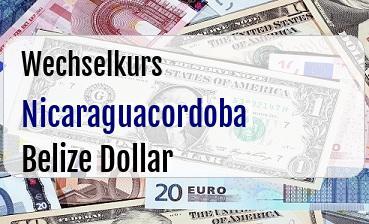 Nicaraguacordoba in Belize Dollar