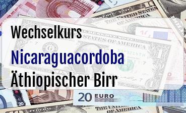 Nicaraguacordoba in Äthiopischer Birr