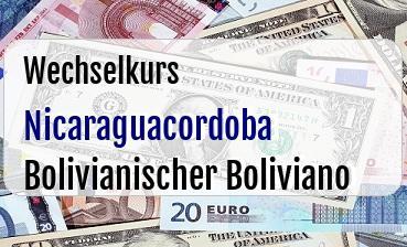 Nicaraguacordoba in Bolivianischer Boliviano