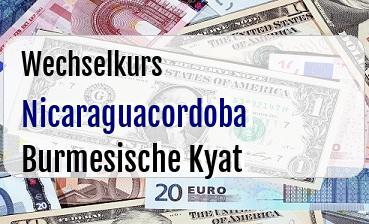 Nicaraguacordoba in Burmesische Kyat