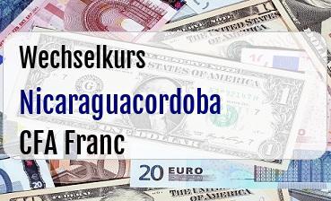 Nicaraguacordoba in CFA Franc