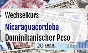 Nicaraguacordoba in Dominikanischer Peso