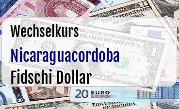 Nicaraguacordoba in Fidschi Dollar
