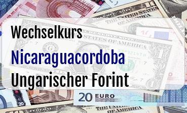 Nicaraguacordoba in Ungarischer Forint