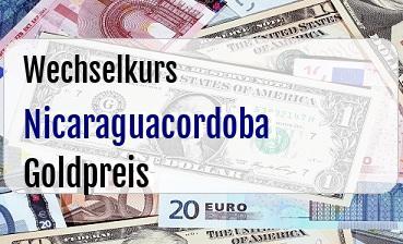 Nicaraguacordoba in Goldpreis