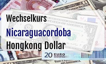 Nicaraguacordoba in Hongkong Dollar