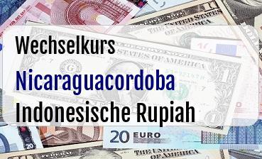 Nicaraguacordoba in Indonesische Rupiah
