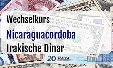 Nicaraguacordoba in Irakische Dinar