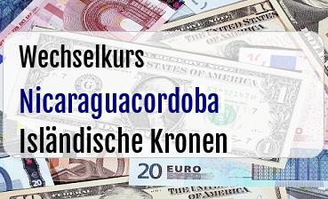 Nicaraguacordoba in Isländische Kronen