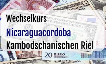 Nicaraguacordoba in Kambodschanischen Riel