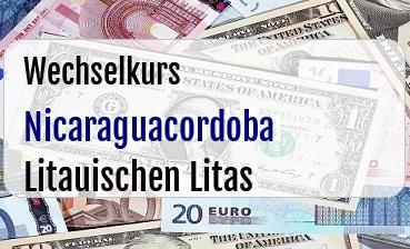 Nicaraguacordoba in Litauischen Litas