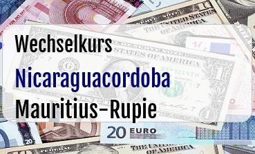 Nicaraguacordoba in Mauritius-Rupie