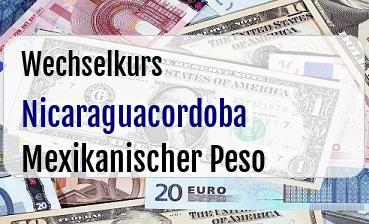 Nicaraguacordoba in Mexikanischer Peso