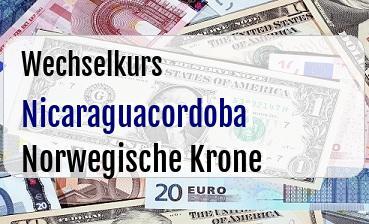 Nicaraguacordoba in Norwegische Krone