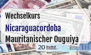 Nicaraguacordoba in Mauritanischer Ouguiya