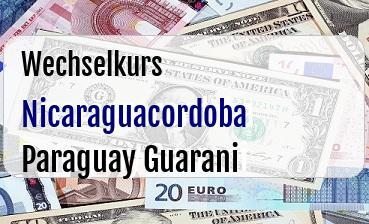 Nicaraguacordoba in Paraguay Guarani
