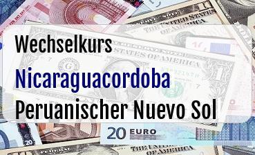 Nicaraguacordoba in Peruanischer Nuevo Sol