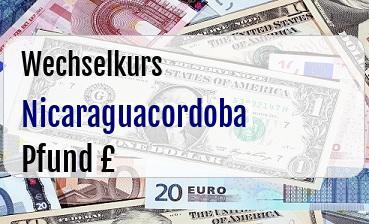 Nicaraguacordoba in Britische Pfund