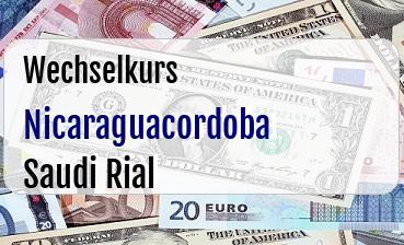 Nicaraguacordoba in Saudi Rial