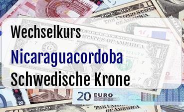 Nicaraguacordoba in Schwedische Krone