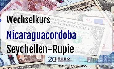 Nicaraguacordoba in Seychellen-Rupie