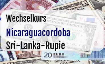 Nicaraguacordoba in Sri-Lanka-Rupie