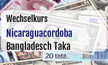 Nicaraguacordoba in Bangladesch Taka