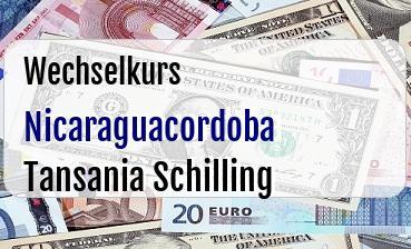 Nicaraguacordoba in Tansania Schilling